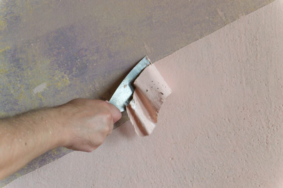 removing paint from interior wall